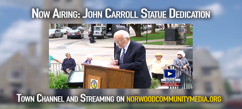 John Carroll Statue Dedication