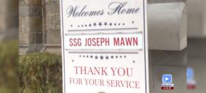 Firefighter Mawn Returns Home