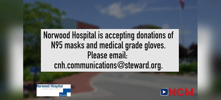 Norwood Hospital Accepting Donations