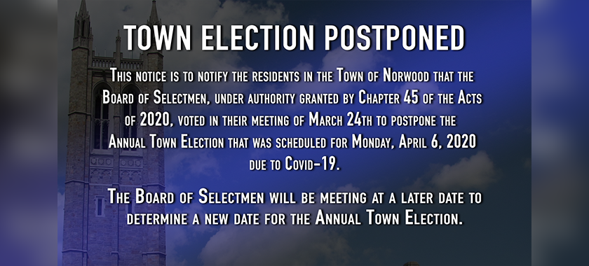 Town Election Postponed